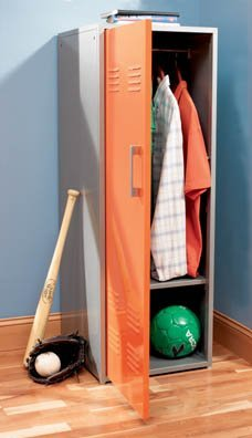 Orange Youth Storage Locker by Powell Furniture