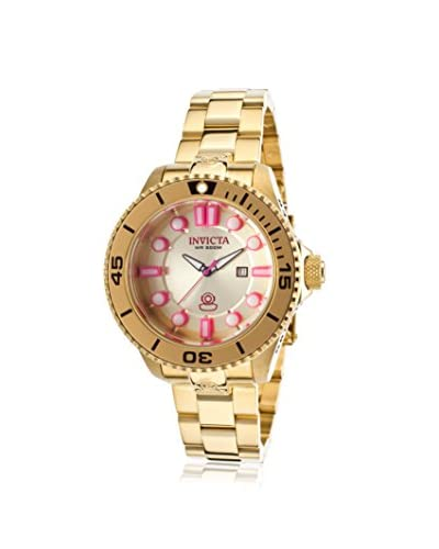 Invicta Women's 19821 Pro Diver 18K Gold-Plated Stainless Steel Watch