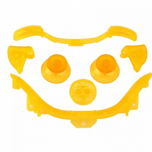 Custom Mod Thumbsticks D Pad Rt Lt Rb Lb And Bottom Trim For Xbox 360 Controller (Clear Yellow)