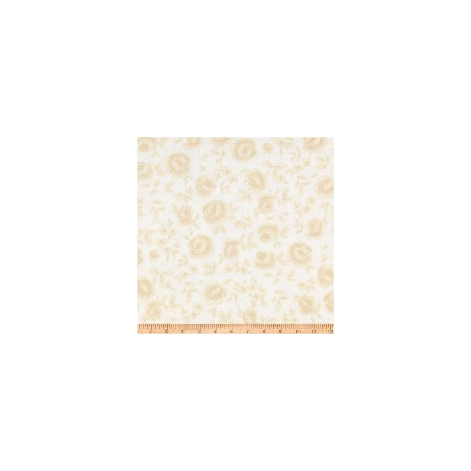 108'' Flourish Quilt Backing Washed Roses Cream/Tan Fabric