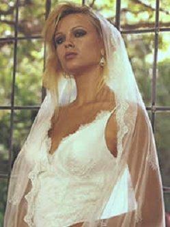 Saison Blanche Couture #V026 Chantilly Lace Ivory Mantilla Veil Bridal Wedding
