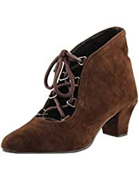 ROCKSY Women's Brown Suede Boots