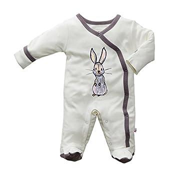 Babysoy Baby-girls JB Footie 0-3 months Rabbit/Thunder