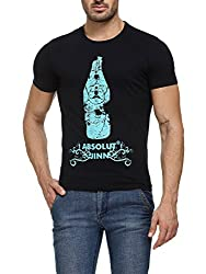 Teesort Mens Cotton Blue T-Shirt TST-ABSOLUT-M