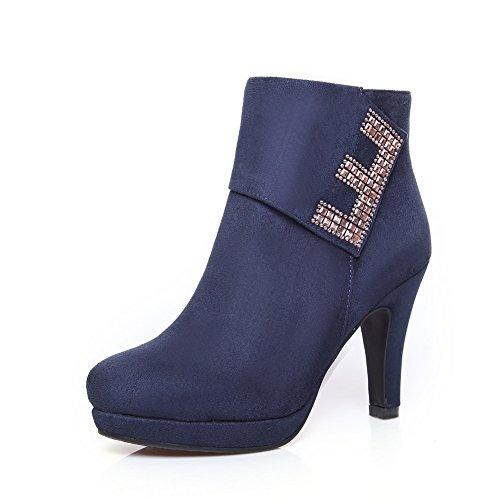 balamasa-ladies-chunky-heels-glass-diamond-zipper-blue-imitated-suede-boots-4-uk