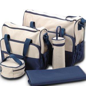 Set 5 kits Bolso/Bolsa/Bolsillo Maternal Bebé para carro carrito biberón colchoneta comida pañal de color azul por surepromise en BebeHogar.com