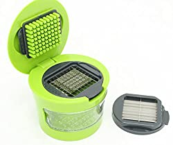 Perfect Life Ideas All-In-One Mini Garlic Press - It Chops, Slices & Grates Too!