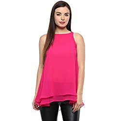 HOT PINK DOUBLE LAYER SOLID TOP
