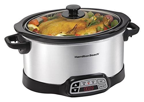 Hamilton Beach 33660 Programmable Slow Cooker, Silver, 6 quart (Rival Programmable Slow Cooker compare prices)