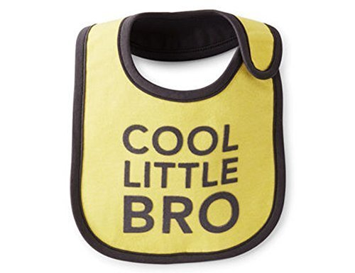 "Carter's Bib ""COOL LITTLE BRO"" for the Little Brother"