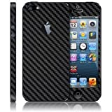 Carbon fiber Skin Full Body Sticker for Apple iPhone 5 (BLACK COLOR)
