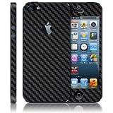 Carbon fiber Skin Full Body Sticker for Apple iPhone 5 (BLACK COLOR)