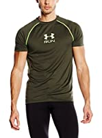Under Armour Camiseta Manga Corta Running - Shirt/ Run Graphic Tee (Verde Oscuro)