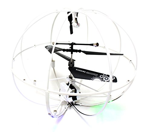 ROBOTIC UFO Helicopter with LED Lights 3.5 Channel I/R Flying Ball RC Mini Helicopter with Built-in Gyro! (Colors May Vary) (Rc Robotics compare prices)