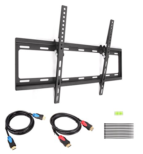 Cable Matters Tilt Tv Wall Mount For 37-70 Inch Lcd/Led With 2-Pack 6 Feet High Speed Hdmi Cable