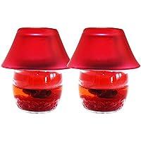 ShadowFax Gel Glass Candle Lamp Rose 9cm Set Of 2 - B01J3O7UMO