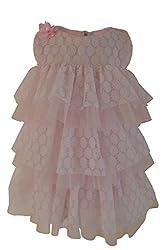 Faye Pink & White Ruffle Dress 6-7Y