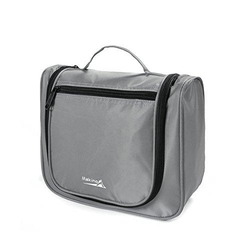 Couple Voyage / Cosmetic Portable / sac de lavage imperméable à l'eau-gris