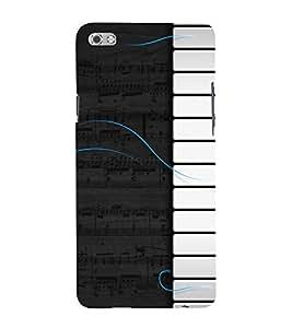 Piano Design Cute Fashion 3D Hard Polycarbonate Designer Back Case Cover for Micromax Canvas Sliver 5 Q450