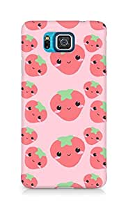 Amez designer printed 3d premium high quality back case cover for Samsung Galaxy Alpha (cute strawberries expressions)