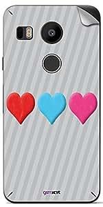 GsmKart GN5X Mobile Skin for LG Google Nexus 5X (Silver, Nexus 5X-320)