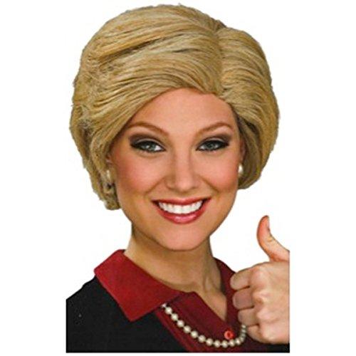 NEW! Hillary Clinton Wig Adult Halloween Costume Fancy Dress (Blow Pop Adult Costume)
