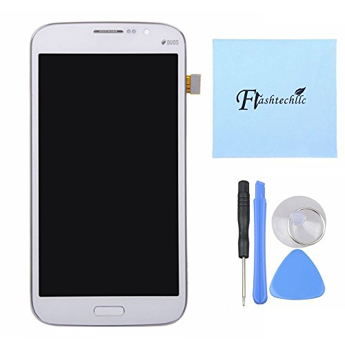 Blue Or White Lcd Screen Touch Digitizer + Frame Assembly For Samsung Galaxy Mega 5.8 I9150 I9152 With Dools (White)
