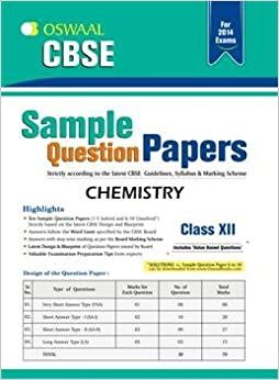CBSE Sample Question Papers - Chemistry price comparison at Flipkart, Amazon, Crossword, Uread, Bookadda, Landmark, Homeshop18