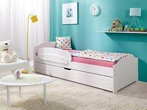"""Lit enfant LILI 200x90 couleur: """"blanc"""" avec le matelas, le tiroir et"""