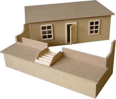 Dolls House Furniture Wooden Basement Kit/ Brand New