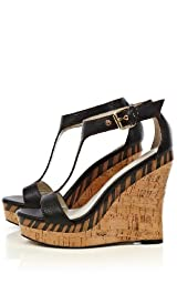 Wild Tribal Wedge Sandal