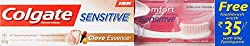 Colgate Sensitive Clove Essence Toothpaste - 80 g with Free Toothbrush Worth 35
