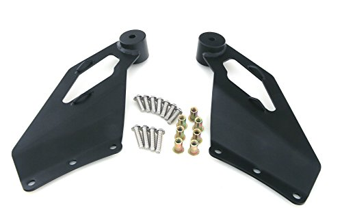 GS Power's 50 inch Straight LED Off Road Light Bar Brackets for 1999-2006 GM Chevrolet Silverado / GMC Sierra & 00-06 Chevy Tahoe / GMC Yukon. Mount at Upper Windshield Roof Cab of the Pickup & SUV (Brackets Straight compare prices)