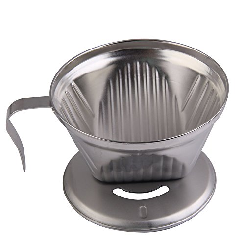Vakind Stainless Steel Metal Cone Espresso Coffee Drip Cup Filter Maker Strainer Best Coffee ...