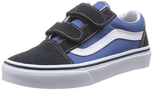 vans-old-skool-v-zapatilla-deportiva-de-lona-infantil-color-azul-talla-27