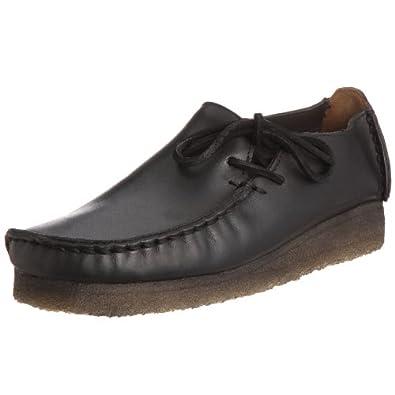 Clarks Originals Lugger Black Leather Womens Shoes Size 39.5 EU