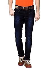 V Dot Men's Formal Trousers (8907445364778_VDDN316D03922_32W x 32L_Dark Blue Solid)