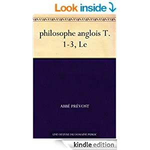 philosophe anglois T. 1-3, Le (French Edition)