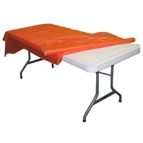 "Premium Quality Plastic Table Cover Banquet Rolls 40"" X 300' (Orange) by Exquisite"