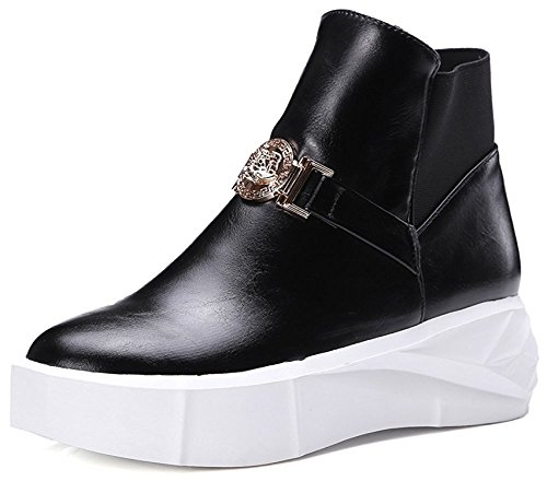 paopzmlha-pumps-womens-trendy-metal-elastic-back-round-plain-toe-ankle-boots-platform-sneakers-black