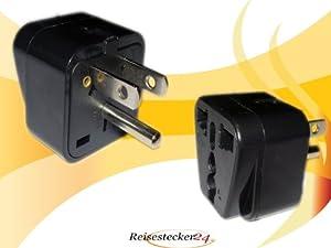 Design Reisestecker Adapter für Costa Rica auf Deutschland Schukostecker, Umwandlungsstecker CR-D