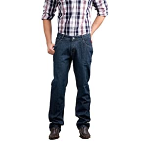 Yepme Comfort Fit Dark Blue Jeans Mens, Size 34