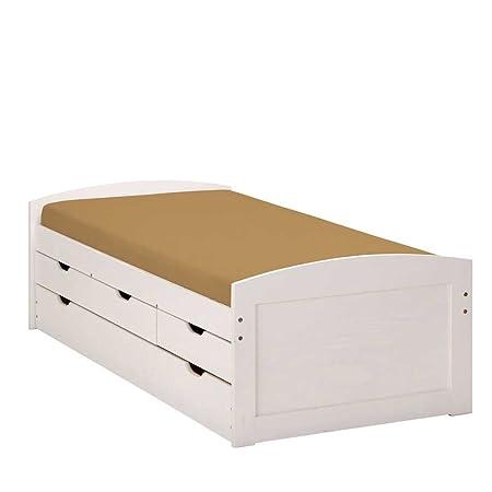Bett Valuta mit Ausziehliege Breite 195 cm Liegefläche 90x190 Liegefläche 90x190 Pharao24