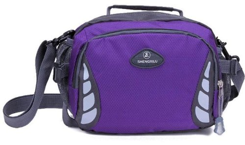 American Shield Travel Gear Small Single Shoulder Bag. For Wallet Credit Card, Watch.Outdoor Exercise Sport Pocket Purse Passport Cover.Ag-Qg9-C4 Purple