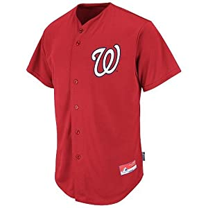 Washington Nationals Full-Button CUSTOM or BLANK BACK Major League Baseball Cool-Base... by Majestic Authentic Sports Shop