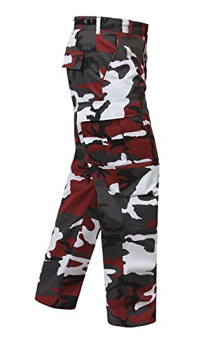 Camouflage Military BDU Pants, Army Cargo Fatigues (Red Camouflage, Size Small) (Camo Shirt And Pants compare prices)