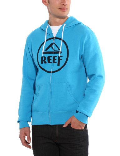 Reef Vintage Circle Zip Men's Sweatshirt Turquoise Small