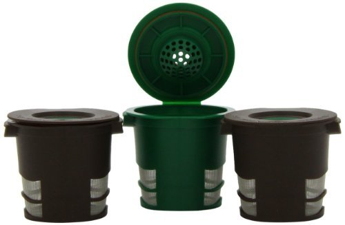 Ekobrew Refillable K-Cup For Keurig K-Cup Brewers, 3-Count, 2 Brown & 1 Green Color: Brown/Green Home & Kitchen front-477635
