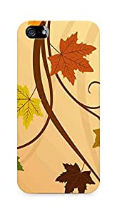 Amez designer printed 3d premium high quality back case cover for Apple iPhone 5 (Thanksgiving fall leaf)