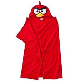 Angry Birds Red Hooded Fleece Wrap Blanket